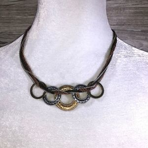 Jewelry - Multi-Metal Circle Statement Necklace